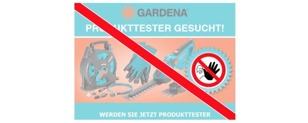 Achtung: Gardena-Produkttest führt zu Gewinnspiel von Datensammlern