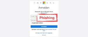 Microsoft Phishing-Mail Microsoft-Konto