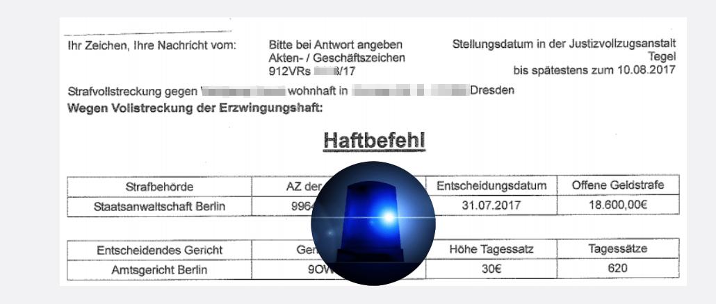 Haftbefehl Der Staatsanwaltschaft Berlin Vorsicht Fälschungen Im Umlauf