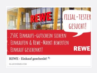 REWE Gutschein Gewinnspiel Datensammler