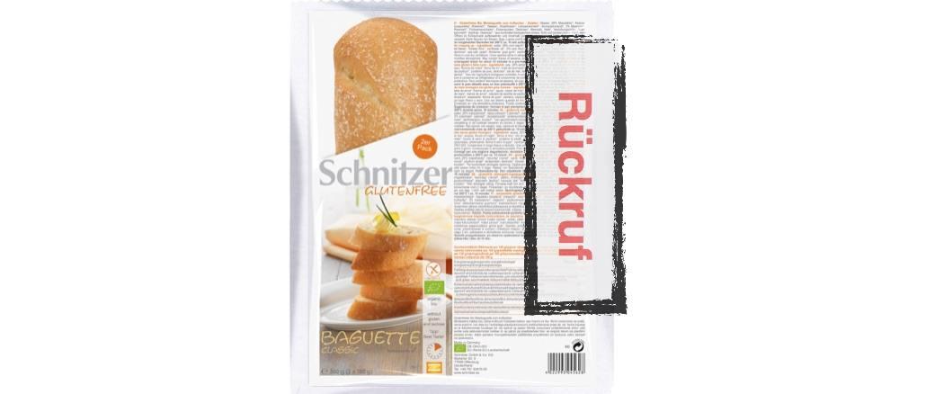 Rückruf Schnitzer Bio Baguette classic