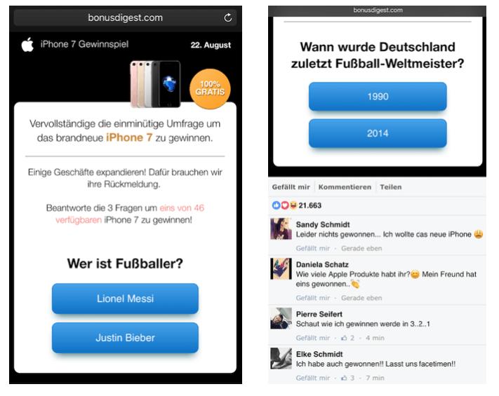 WhatsApp Gewinnspiel iPhone 7 1