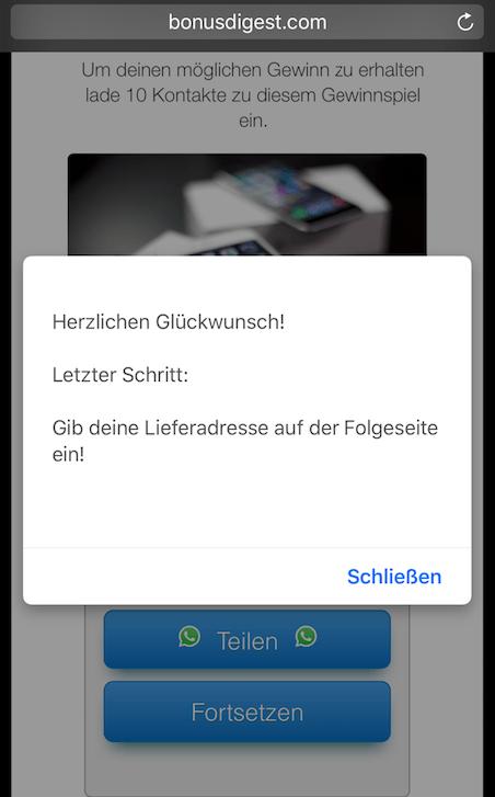 WhatsApp Gewinnspiel iPhone 7 3