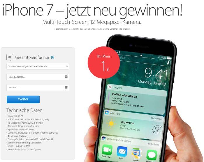 iPhone 7 Gewinnspiel Fake