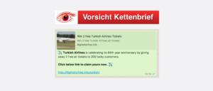 2017-09-04 Kettenbrief WhatsApp 2 Flugtickets gewinnen
