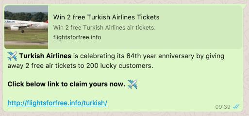 2017-09-04 Turkish Airlines Kettenbrief WhatsApp