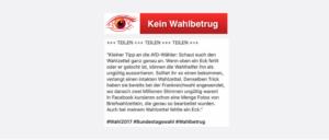 2017-09-11 Bundestagswahl Fake Wahlbetrug Stimmzettel