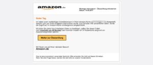 2017-09-14 Amazon Spam Mail Achtung- Wir haben verdaechtige Anmeldeversuche festgestellt!