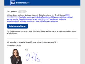 2017-09-17 1und1 Phishing Spam-Mail Problem mit E-Mail Konto