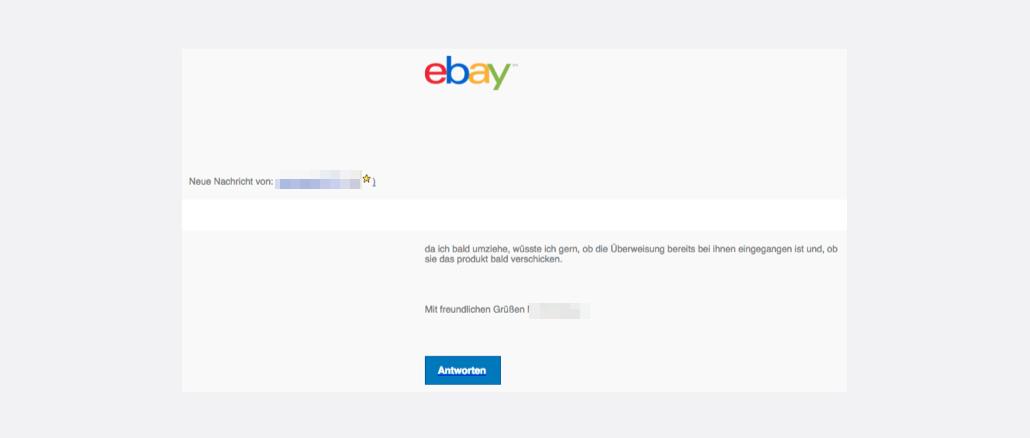 2017-09-18 eBay Spam neue Nachricht