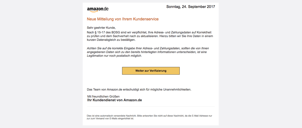 2017-09-24 Amazon Spam Mail Atualisierung