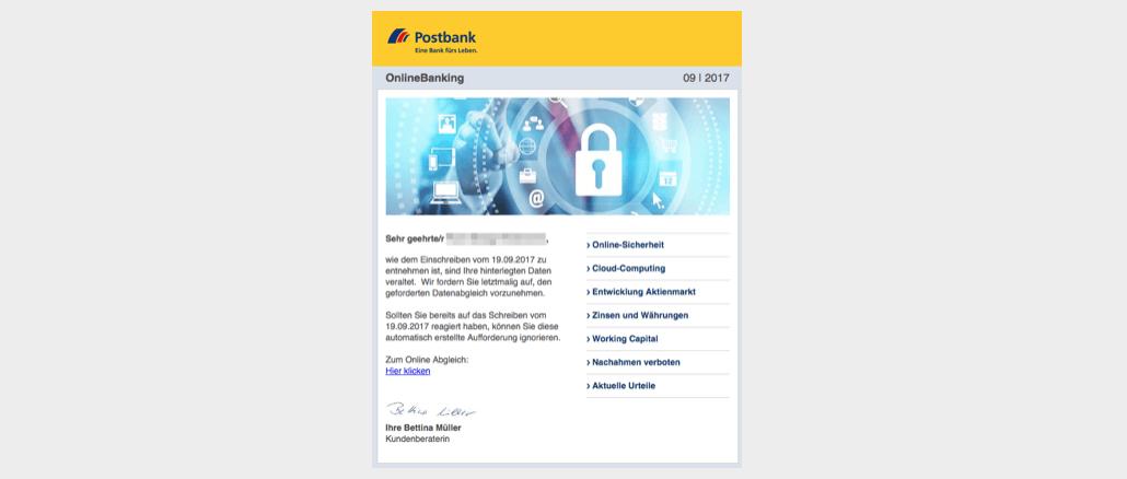 2017-09-25 Postbank Phishing