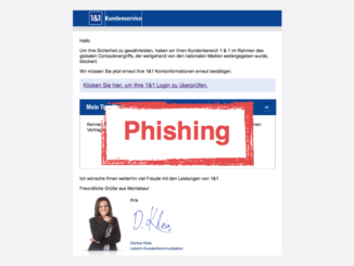 2017-09-26 1und1 Spam Phishing aktiviere deinen Account