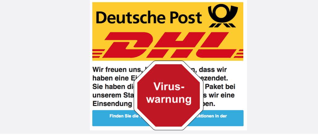 2017-09-26 DHL Spam Virus Mail Instruktionen von dhl