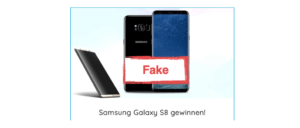 2017-09-27 Spam Mail O2 Fake Samsung Galaxy S8