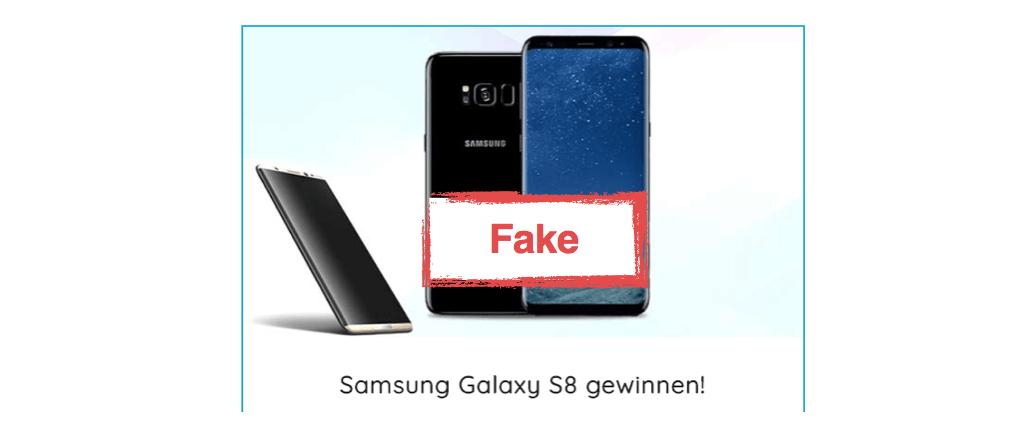 2017-09-27 Spam Mail O2 Fake Samsung Galaxy S8