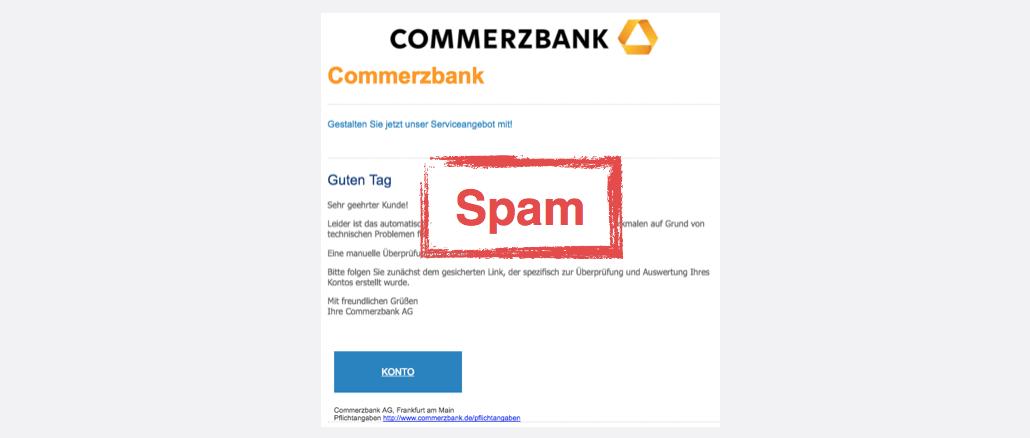 2017-10-04 Commerzbank Spam Phishing Überprüfung Ihres Online-Kontos