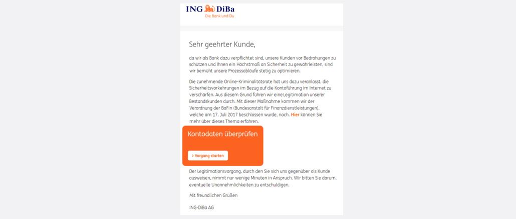 2017-10-10 Ing-DiBa Spam Ihre Sicherheit