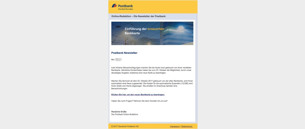 2017-10-19 Postbank Phishing