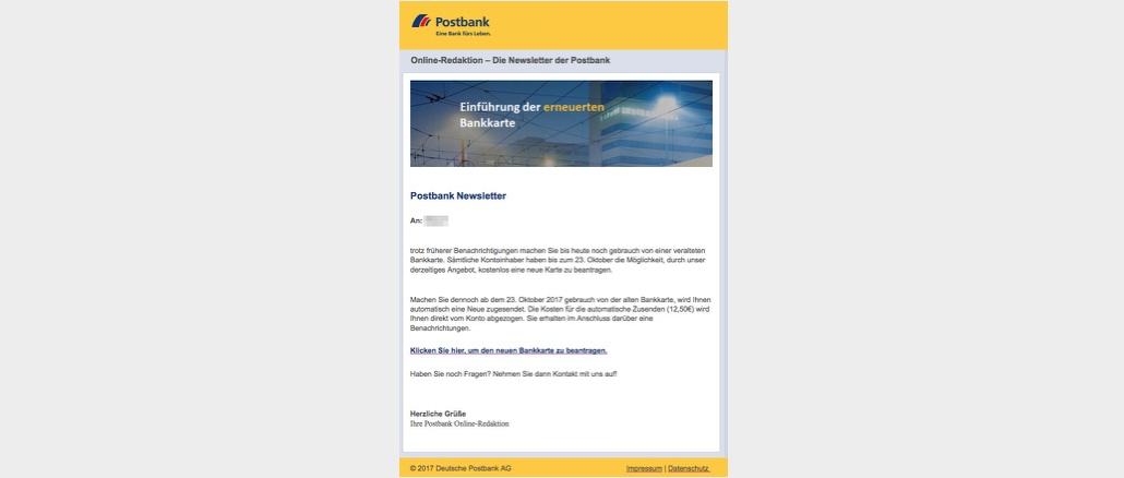 2017-10-19 Postbank Phishing