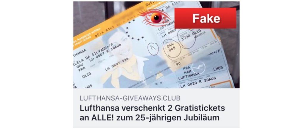 2018-02-15 Lufthansa Kettenbrief Facebook