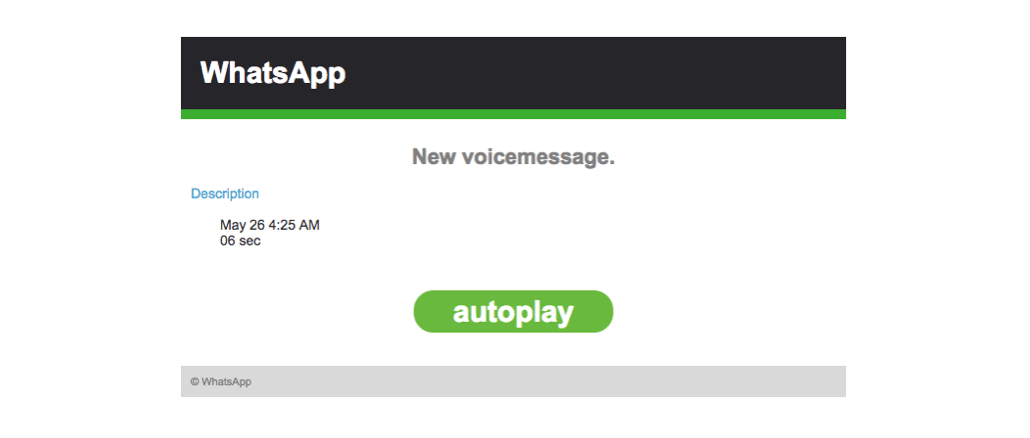 2018-05-28 WhatsApp Mail Missed voice message