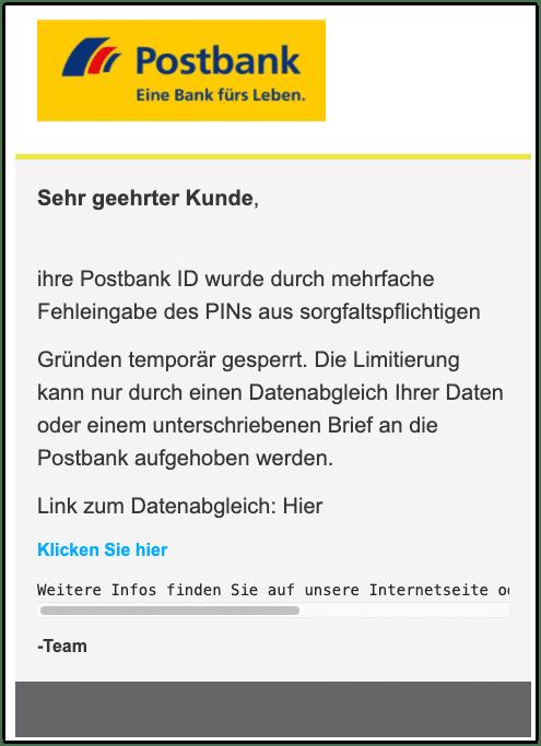 2020-10-01 Postbank Spam