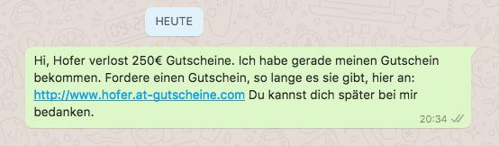 250 Euro Hofer Gutschein 2