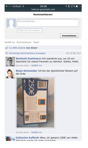 250 Euro Hofer Gutschein 4