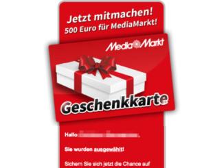 E-Mail Werbung Gewinnspiel 500 Euro Media Markt Gutschein