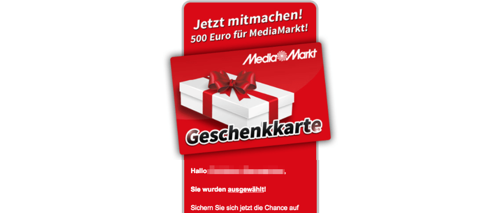 media markt gutschein 500 euro spam