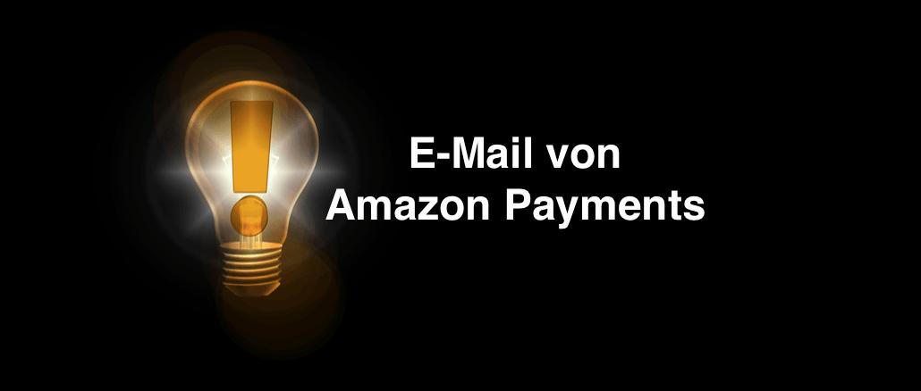 E-Mail von Amazon Payments Online-Rechnung PDF-Datei