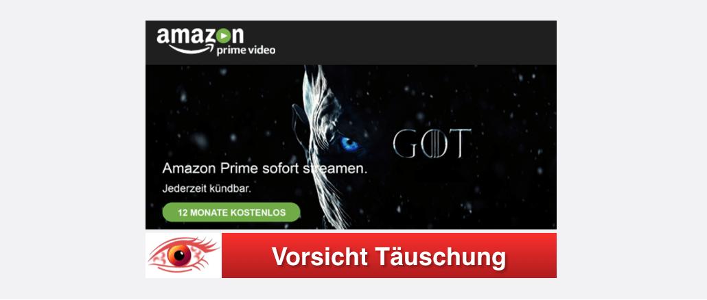 E-Mail von Prime Team zu kostenlosem Amazon Prime Konto