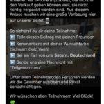 Facebookseite Gewinnspiel Saturn Deutschland