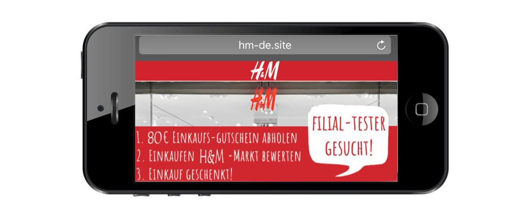 H&M Fake Gutschein Whatsapp