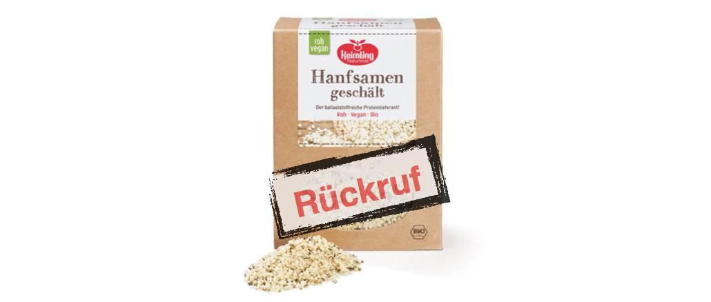 Keimling Naturkost GmbH ruft Hanfsamen geschält zurück