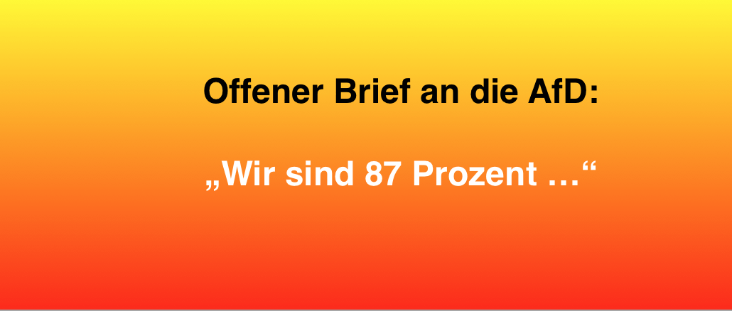 Offener Brief AfD Fake Datensammler