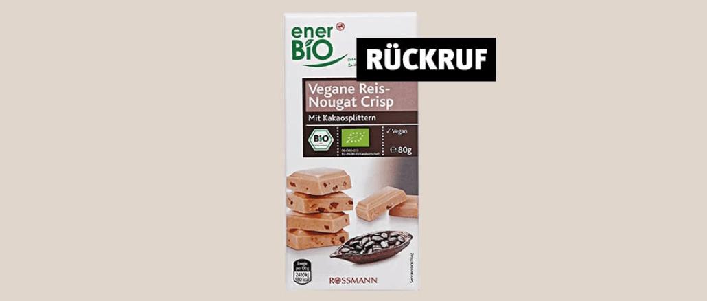 Rückruf Rossmann Schokolade