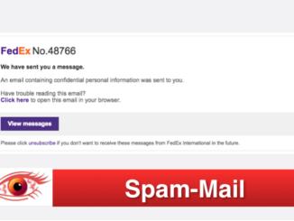 Spam Mail Fedex Übersicht
