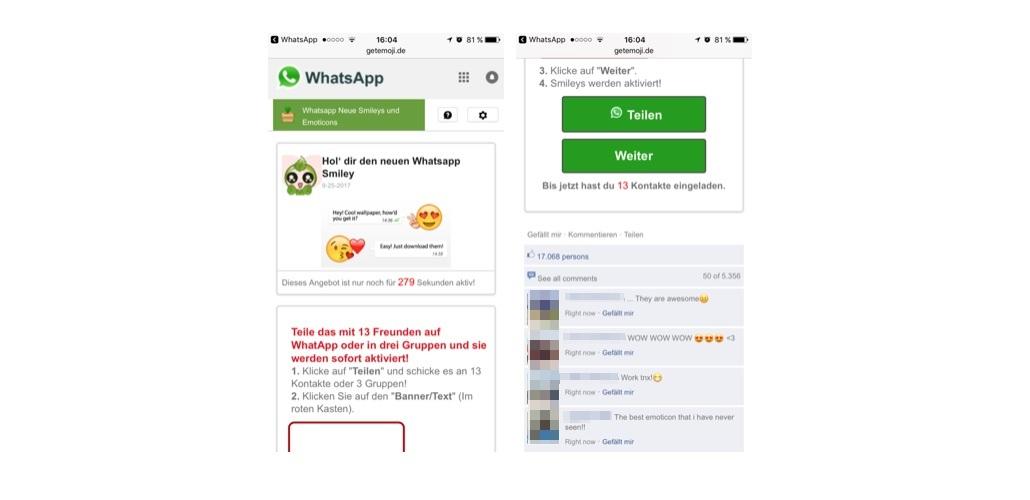WhatsApp Kettenbrief teilen