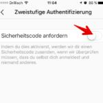 Instagram zweistufige Authentifizierung
