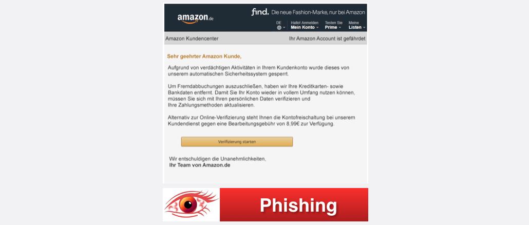 2017-10-05 Amazon Spam Phishing Guten Tag Sie haben eine neue Nachricht