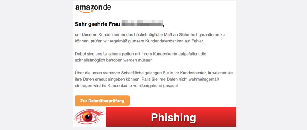 2017-10-09 Amazon Phishing Wichtige Kundemitteilung