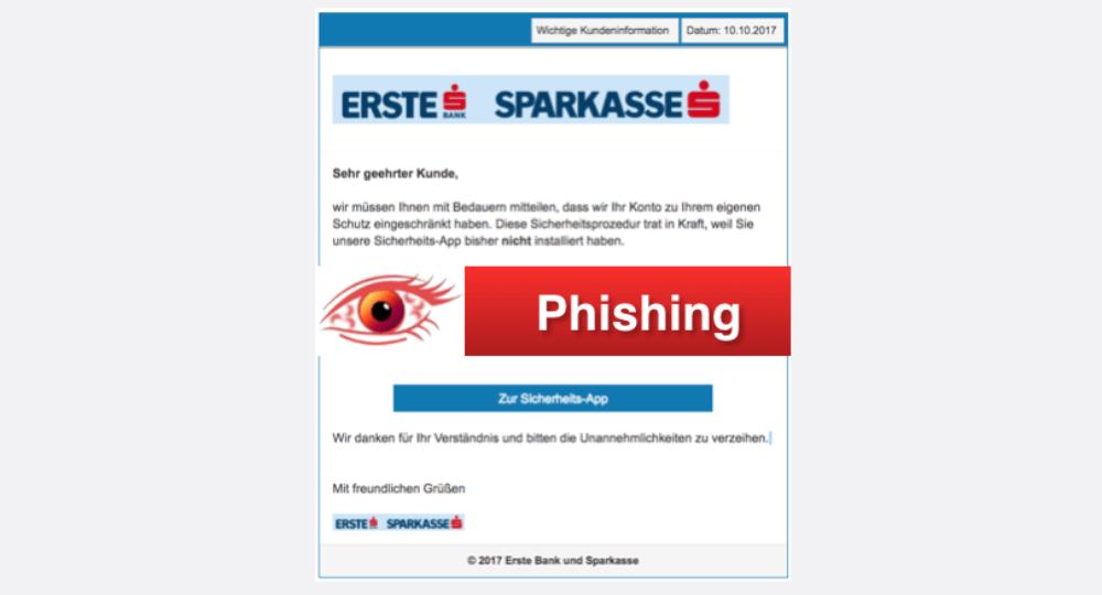Erste Bank Sparkasse Phishing: Diese Spam-Mails sind gerade aktuell