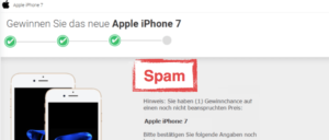 2017-10-16 Fake-Mail im Namen von Apple zu iPhone 7