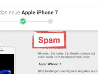 2017-10-16 Fake-Mail im Namen von Apple zu iPhone 7
