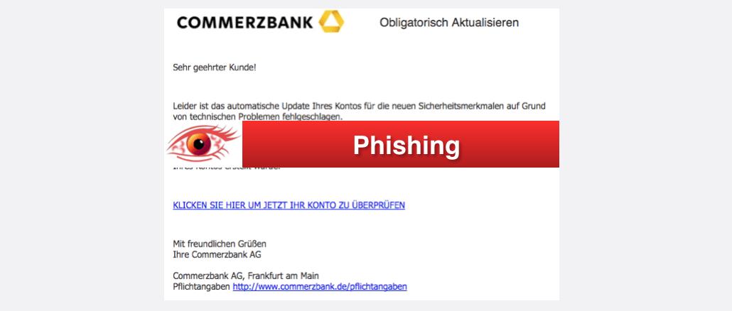 2017-10-20 Commperzbank Spam Online Banking Pflicht-Aktualisierung