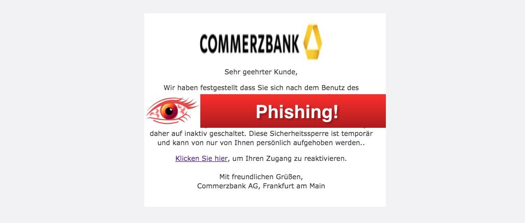 2017-10-23 Commerzbank Spam Obligatorische Anderungen in Ihrem Online-Banking