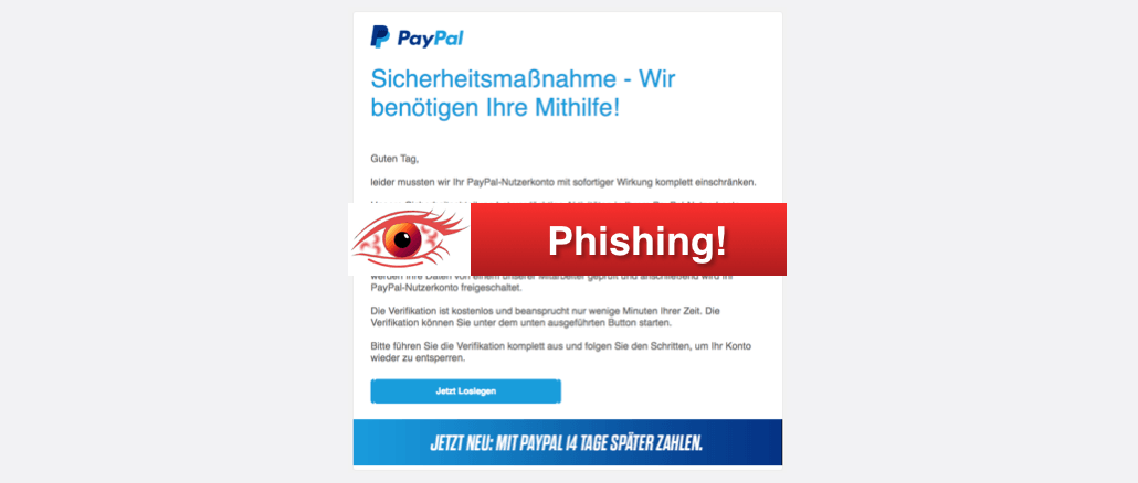 Paypal Pishing Melden