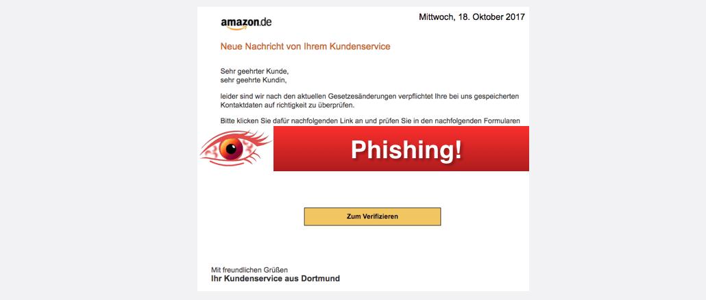 2017-10-25 Amazon Spam Bitte verifizieren Sie Ihre Daten